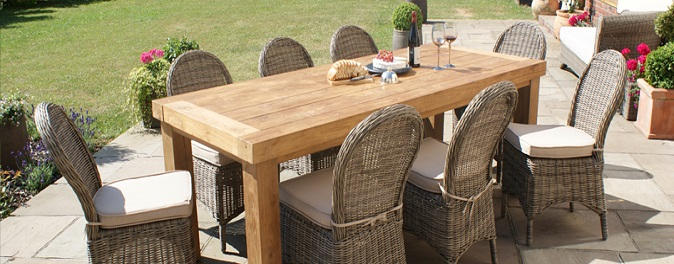 Dining set garden furniture rattan