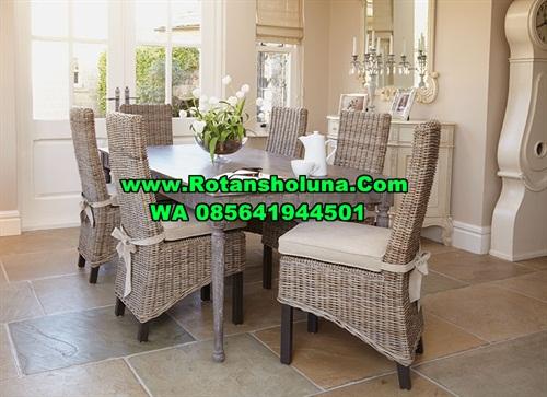 kursi makan set kubu grey