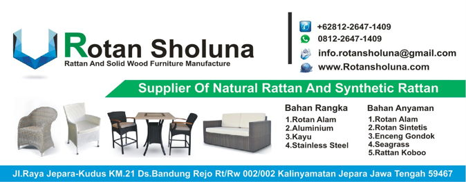 Rotan Sholuna Kerajinan Kursi Rotan Jepara, Furniture Natural Rattan And Synthetic Rattan Custom Furniture Indonesia