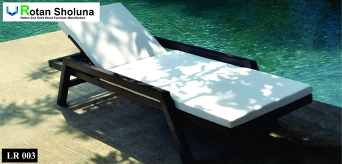 Lounger Santai Cushion Putih